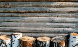 Bois de chauffage de bouleau Photo stock