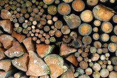 Bois de chauffage de séchage Photo stock