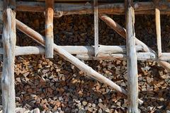 Bois de chauffage empilé Photos stock