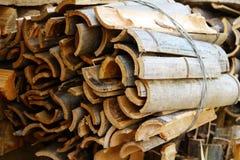 Bois de chauffage en bambou image stock
