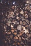 Bois de chauffage pour l'hiver, piles de bois de chauffage, pile de bois de chauffage Images stock