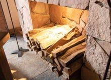 Bois de chauffage pour le bois photo stock