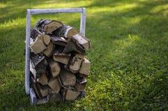 Bois de chauffage pour le sauna Photo libre de droits