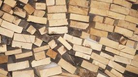Bois de chauffage, texture en bois Image libre de droits