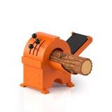 bois de construction et machine sur un blanc Photo stock