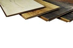 Bois de construction, plancher en stratifié Photo de studio Photo stock