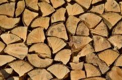 Bois de construction traditionnel de stockage, Bohême du sud photographie stock libre de droits