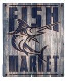 Bois de signe de poissonnerie Photographie stock