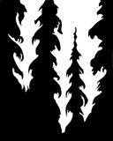 bois de silhouette Images stock