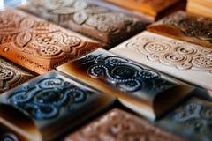 Bois de stockage de fond de boîte en bois de vintage rétro Photos libres de droits