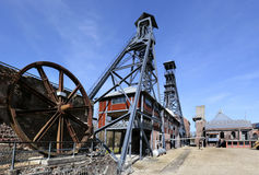 Bois du Cazier, бывшая угольная шахта, Marcinelle, Шарлеруа, Бельгия Стоковое Фото