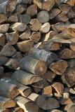Bois empilé Photographie stock libre de droits