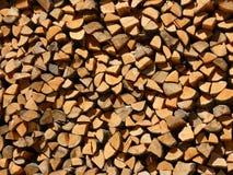 Bois empilé Images stock
