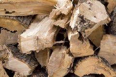 Bois empilé d'incendie Photo libre de droits