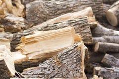 Bois empilé d'incendie Photographie stock libre de droits