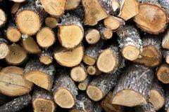 Bois empilés du feu Image libre de droits