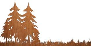 Bois en bois plaisant en fonction avec le fond Images libres de droits