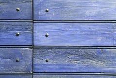 Bois et clous bleus Images libres de droits