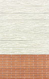 Bois et fond ou texture de mur de briques Image libre de droits