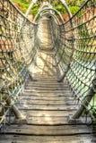 Bois et pont de corde Images stock