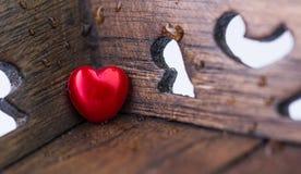 Bois et Valentine Heart III Photographie stock libre de droits