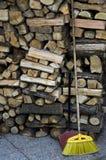 Bois pour le bois de chauffage Photographie stock