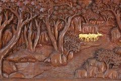 Bois sculpté images stock