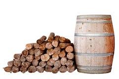 Bois sec et réservoir en bois Photographie stock libre de droits