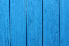 Bois vertical peint en bois bleu de fond photographie stock libre de droits