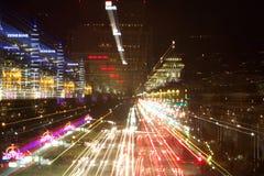 Boise, Αϊντάχο τη νύχτα Στοκ Φωτογραφία
