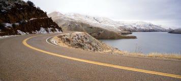 Boise Basin Snake River Canyon Cold Frozen Snow Winter Landscape Stock Images