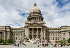 The Boise Capital and people gathered in support of Marijuana royalty free stock image