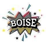 Boise Comic Text no PNF Art Style ilustração royalty free