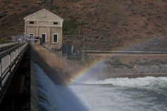 Boise Diversion Dam. With rainbow royalty free stock photo