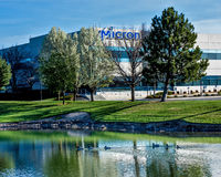 Boise, ID, USA - March 25, 2016: Micron Technology Boise . Micro Royalty Free Stock Photo