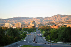 Boise Idaho. Here is a shot of downtown Boise, Idaho with the foothills in the background Stock Image