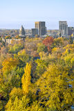 Boise Idaho in the Autumn. Skyline of the city of Boise Idaho in the fall Stock Image