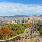 Boise Idaho city of trees in the fall Royalty Free Stock Photography