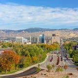 Boise Idaho-Stadt von Bäumen im Fall Lizenzfreie Stockfotografie