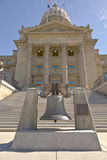 Boise Idaho state capitol building and bell. Boise Idaho state capitol building bell and stairs Stock Photos
