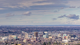 Boise Idaho in the winter with clouds Stock Image