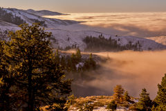 Boise inversion in the early morning from above Royalty Free Stock Photography
