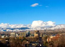 Boise With Mountains Classic View I Royalty-vrije Stock Afbeelding