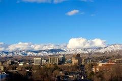 Boise With Mountains Wider Classic-Ansicht Lizenzfreie Stockfotografie