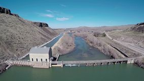 Boise River and diversion Dam stock video