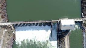 Boise river flows through this historic diversion dam stock video