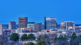 Boise Skyline at night before sunrise Royalty Free Stock Photo