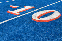 Boise State Field. BSU blue astro turf in Boise, Idaho Stock Photography