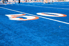 Boise State Field. BSU blue astro turf in Boise, Idaho Stock Images