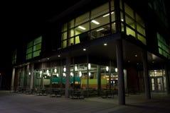Boise State University. Night time photo of Boise State University campus building architecture Stock Photos